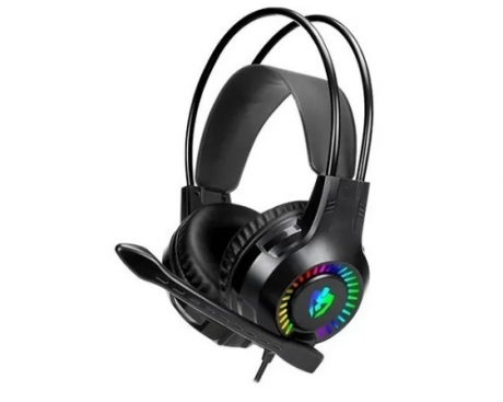 HEADSET GAMER EVOLUT RGB EG304 APOLO COM FIO